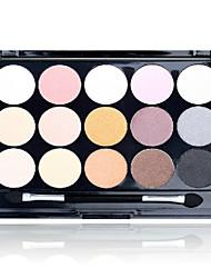 billige -Danni 15 farver Øjenskygger / Pudder Øjne Daglig makeup Makeup Kosmetiske / Glans