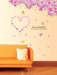 ciliegio in fiore di soggiorno autoadesivo della parete / camera da letto
