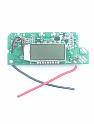 """fx-608-pcba bricolage 1,2 """"LCD double USB 5V de sortie stimuler le module pcb w / led pour énergie mobile - argent + bleu"""
