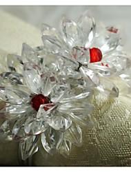 anello fiore di cristallo tovagliolo, acrilico, 1.77inch, set di 12
