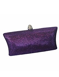 Women Bags All Seasons Glitter Evening Bag with for Event/Party Black Silver Purple Brown Navy Blue