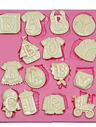 Недорогие -детские письма силиконовые формы силиконовые торт украшения формы для помады фимо шоколадных конфет