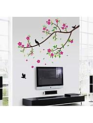 pared calcomanías pegatinas de pared, estilo de las aves y de la fragancia de las flores de pvc pegatinas de pared