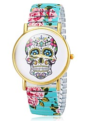 cheap -Women's Bracelet Watch Casual Watch Alloy Band Flower / Skull / Fashion Black / White / Blue / Two Years / Maxell626+2025