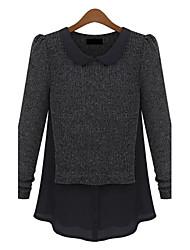billige -Dame Vintage Pullover - Farveblok