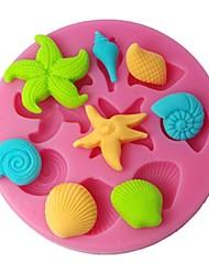 quatre c Couleur des fournitures de conception de moule à cake en silicone gâteau moule supérieur rose
