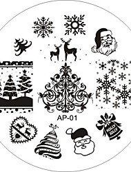 cheap -1 pcs Stamping Plate Template Abstract / Fashion Daily / Metal