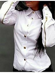 aigowomen je evropský korejský módní dlouhý rukáv dna košile
