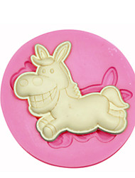 cheap -Animal Shape Donkey Silicone Mould Cake Decorating Silicone Mold For Fondant Candy Crafts Jewelry PMC Resin Clay
