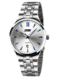 cheap -SKMEI Men's Fashion Watch / Dress Watch Calendar / date / day / Water Resistant / Water Proof / Noctilucent Stainless Steel Band Elegant / Minimalist Silver