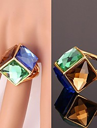 cheap -Women's Statement Ring - Crystal, Gold Plated, Alloy Fashion Blue For Wedding / Party / Daily / Casual / Sports