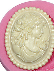 Cameo Female Silicone Mold Silicone Lady Mold For Fondant Fimo Gum Paste & Chocolate SM-473
