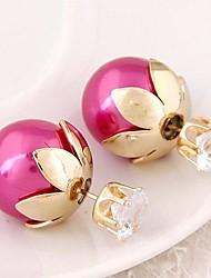 baratos -- Imitações de Diamante Personalizada, Clássico, Europeu Azul / Rosa claro / Vinho Para Festa