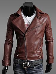 gzzg mænds Korea, stil slank pu læder frakke