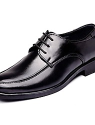 cheap -Men's Shoes Leather Spring Fall Formal Shoes Comfort Oxfords Lace-up for Casual Black