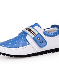 Sneakers Tendance (Bleu/Marron/Blanc) - Simili Cuir - Confort/Bout rond/Bout fermé