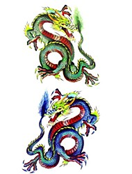 cheap -1pc New Chic Waterproof Temporary Tattoos Back/Leg/Arm Tattoos Large Chinese Dragon Body Tattoos(18.5cm*8.5cm)