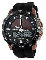 cheap -SKMEI® Men's Sporty Watch Solar Power Analog-Digital Slide Rule/Calendar/Chronograph/Dual Time Zones/Alarm Cool Watch Unique Watch