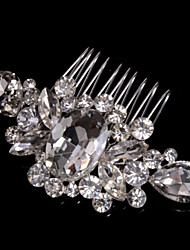 cheap -Alloy Hair Combs With Rhinestone Wedding/Party Headpiece Elegant Style