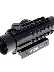 LS322 1*30 Red+Green Laser Configurable Reflex Laser Sight Rifle Scope(5mW, 532nm, CR2032, Black)