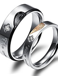 cheap -Men's Women's Couple Rings Fashion Gold Plated 18K gold Jewelry Wedding Party Daily Casual Sports