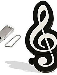 cartone animato modello di nota musicale 4gb usb 2.0 Flash memory stick pen drive pendrive