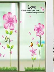 Tegneserie Blomster Vægklistermærker Fly vægklistermærker Dekorative Mur Klistermærker Materiale Kan fjernes Hjem Dekoration