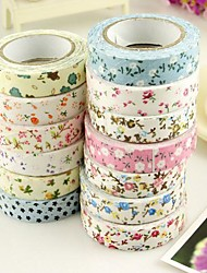 cheap -5M Flower Pattern Cloth Tape(1 PCS Random Color)
