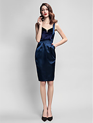 cheap -Sheath / Column Straps Knee Length Velvet / Stretch Satin Cocktail Party Dress with Pocket by TS Couture®