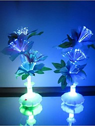 cheap -Optical Fiber Flowers Colorful Daffodils Vase LED Night Light