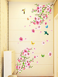 abordables -Floral Bande dessinée Stickers muraux Autocollants avion Autocollants muraux décoratifs, PVC Décoration d'intérieur Calque Mural Mur