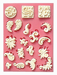 cheap -Small Relief Cake Border Fondant Cake Molds Chocolate Mould For The Kitchen Baking Cake Tool Decoration