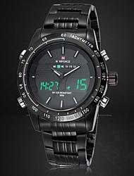 NAVIFORCE Муж. Спортивные часы Наручные часы электронные часы Кварцевый Цифровой Японский кварц LED Календарь Секундомер Защита от влаги