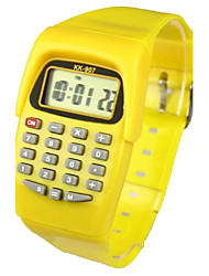 cheap -Quartz Digital Digital Watch Wrist Watch Hot Sale Band Candy color Fashion Yellow