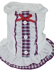 Mačka Pas Haljine Odjeća za psa Cosplay Vjenčanje Plaid/Check Mašna Crvena Crvena Plava Kostim Za kućne ljubimce