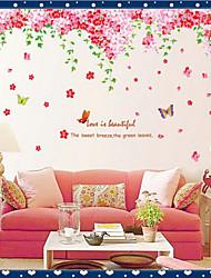 miljømæssige aftagelig blomst rattan pvc væg sticker