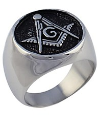 cheap -Men's Statement Ring - Titanium Steel Fashion 7 / 8 / 9 For Wedding / Party / Daily