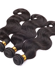 "cheap -3Pcs/lot 22"" Raw Brazilian Virgin Hair Natural Black Body Wave Human Hair Weaving Weft"