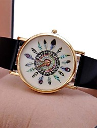 cheap -Women's Wrist Watch Casual Watch PU Band Vintage Black / One Year / Jinli 377