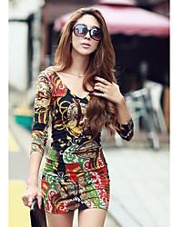 Недорогие -DuoWei женщин новейший сексуальная цветочные платья печати