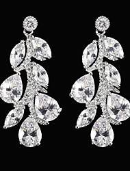 preiswerte -Silber Legierung mit Zirkonia Hochzeit Ohrringe elegante Stil