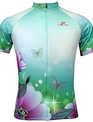 economico -JESOCYCLING Maglia da ciclismo Per donna Maniche corte Bicicletta Maglietta/Maglia TopAsciugatura rapida Resistente ai raggi UV