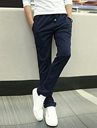 povoljno -Muškarci Ležerne prilike Ravan kroj Širok kroj Sportske hlače Chinos Hlače Jednobojni