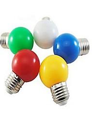 E26/E27 Lâmpada Redonda LED 1 leds SMD 5730 Branco Frio Vermelho Azul Amarelo Verde 24lm 5000-7500K AC 220-240V