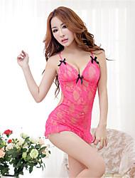 preiswerte -Damen Dessous Besonders sexy Anzüge Nachtwäsche Patchwork Spitze Rosa