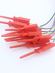 Quick Wire Connection Clip for Logic Analyzer Test - Red (10 PCS)
