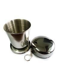 Недорогие -чашка Один экземляр Компактность Нержавеющая сталь На открытом воздухе для Отдых и Туризм