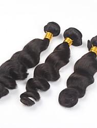 cheap -3Pcs/lot 26inch Brazilian Virgin Hair Natural Colour Loose Wave Hair Weaving Human Hair Bundles