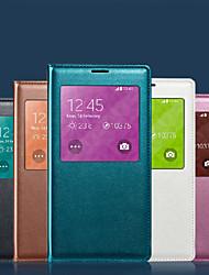 billige -Etui Til Samsung Galaxy Samsung Galaxy Etui Vanntett / med vindu Heldekkende etui Ensfarget Myk PU Leather til S8 Plus / S8 / S7 edge