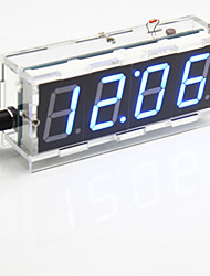 cheap -DIY 4-digit Seven-segment Display Digital Light Control Desk Clock Kit (Blue Light)